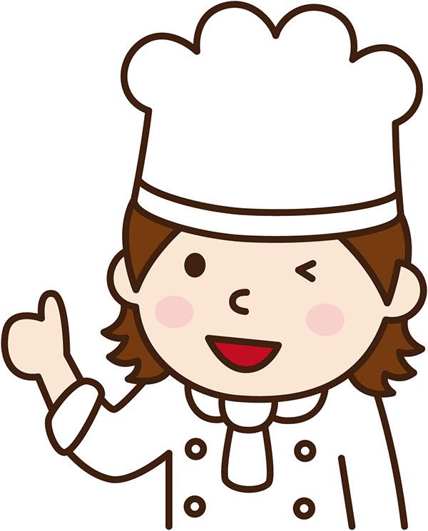 調理係の女の子
