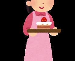 ケーキ屋さんのアルバイト店員